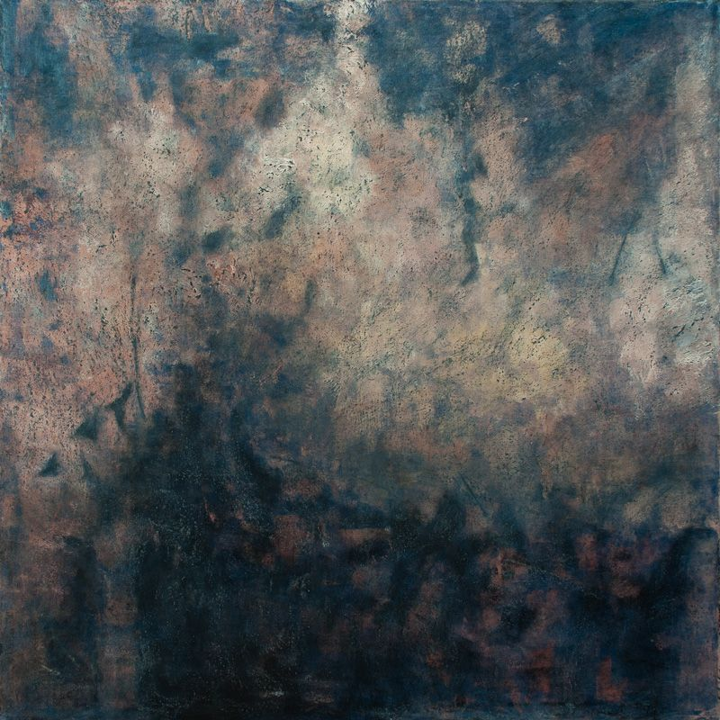 "Carbon Footprints, oil on canvas, 48″ x 48,"" Copyright © chriscoxart.com 2012 (Pennsylvania)"