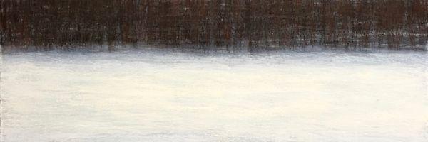 "Tree Line, oil and ceramic stucco on canvas, 36″x36,"" Copyright chriscoxart.com 2016 (Pennsylvania)"