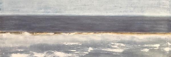 "Submerged, oil on canvas, 36″ x 48,"" Copyright chriscoxart.com 2017 (Pennsylvania)"