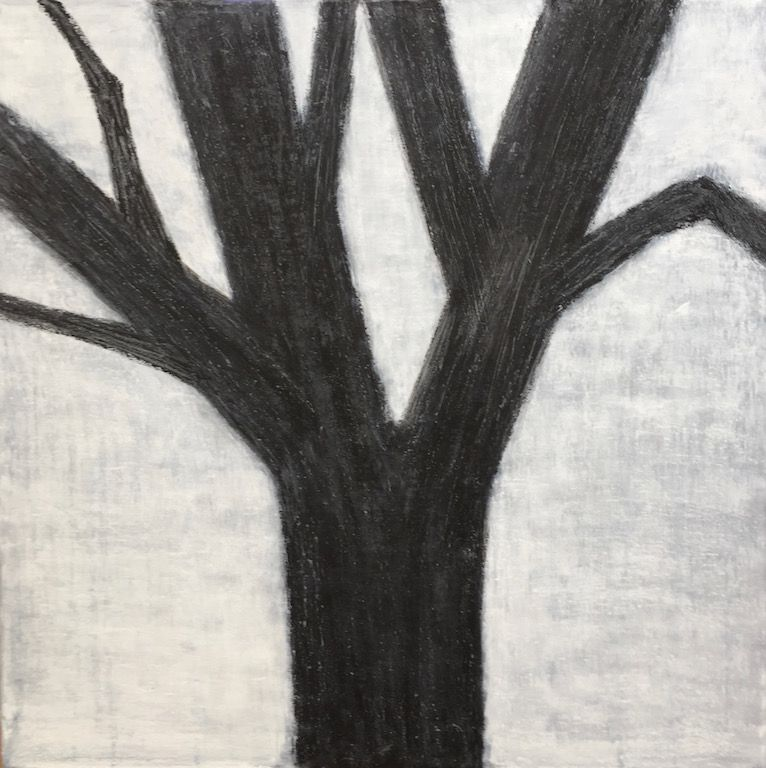 "Black Tree, oil on canvas, 24″ x 24,"" Copyright chriscoxart.com"