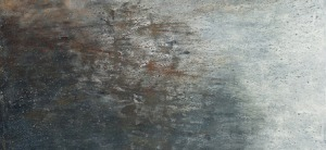 "Fossilized Reflections, oil on canvas, 48″ x36,"" Copyright 2012 chriscoxart.com"