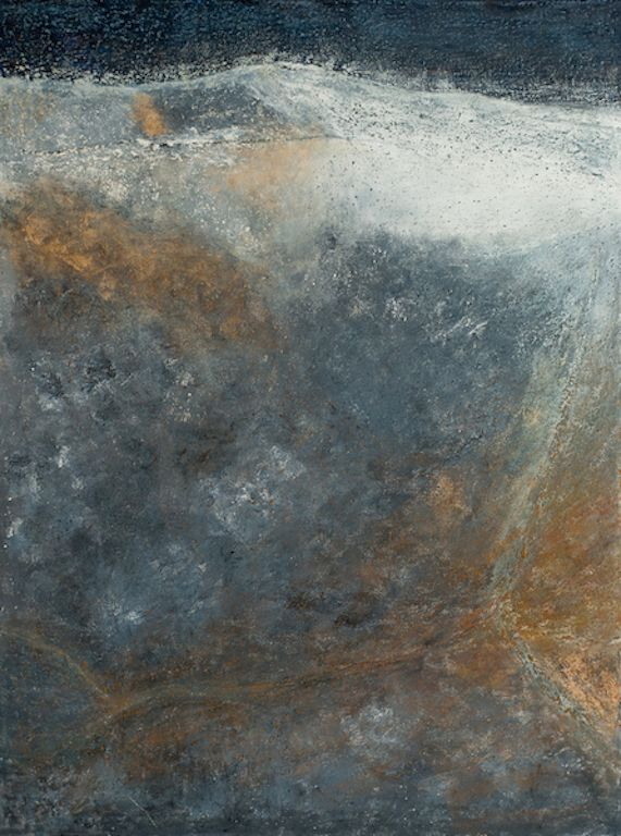 "Tectonic Memory, oil on canvas, 48″ x 36,"" Copyright 2012 chriscoxart.com"