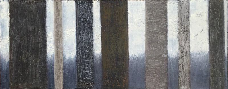 "Seven Trees, oil on canvas, 16′ x 40,"" Copyright 2015 chriscoxart.com"