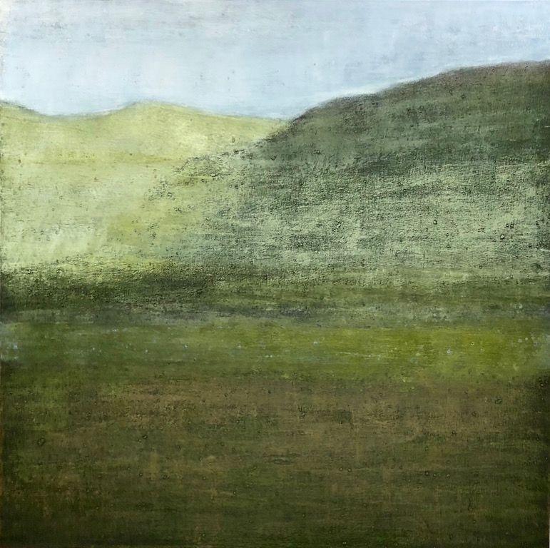 "Uaine, oil on canvas, 36″ x36,"" Copyright 2018 chriscoxart.com"