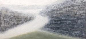 "Fog, oil on canvas, 24″ x 30,"" Copyright 2018 chriscoxart.com"