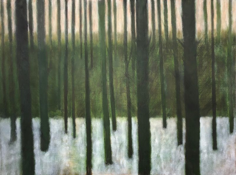 """What The Trees Saw, oil on canvas, 36″ x 48,"""" Copyright chriscoxar.com 2019"""