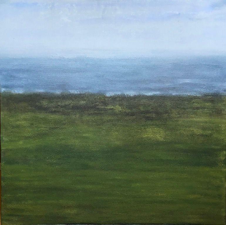 "Water's Edge, oil on canvas, 24″ x 24,"" Copyright 2019 chriscoxart.com"