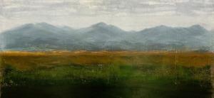 "Rust & Stone, oil on canvas, 36″ x 36,"" Copyright 2019 chriscoxart.com"