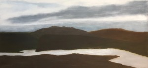 "Skye, oil on canvas, 24″x48,"" Copyright 2017 chriscoxart.com"