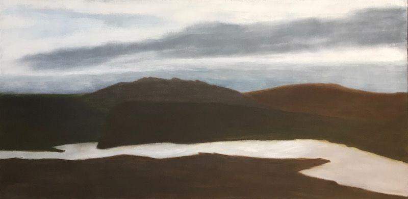 "Skye, oil on canvas, 24″x48,"" Copyright 2017 chriscoxart.com"