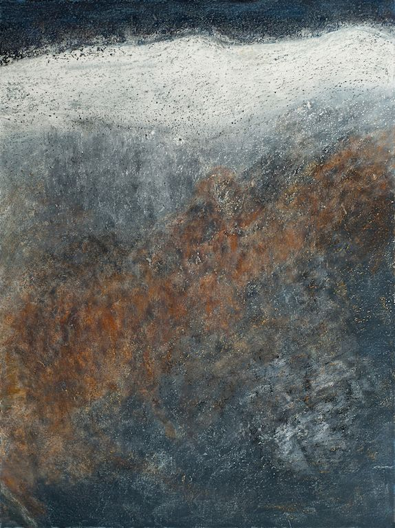 Shifting Plates, oil on canvas, 48 x 36, Copyright 2012 chriscoxart.com, owned by a collector in Pennsylvania