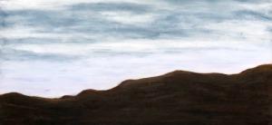 "Crag, oil on canvas, 36″x36,"" Copyright 2017 chriscoxart.com"