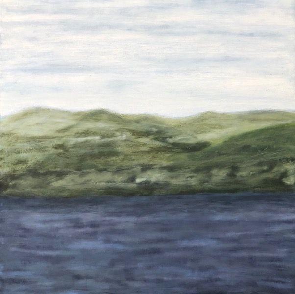"Glen, oil on canvas, 36″ x 36,"" Copyright 2017 chriscoxart.com"