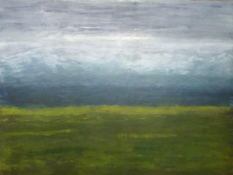 "Beanntach, oil on canvas, 36″ x 48,"" Copyright 2018 chriscoxart.com"