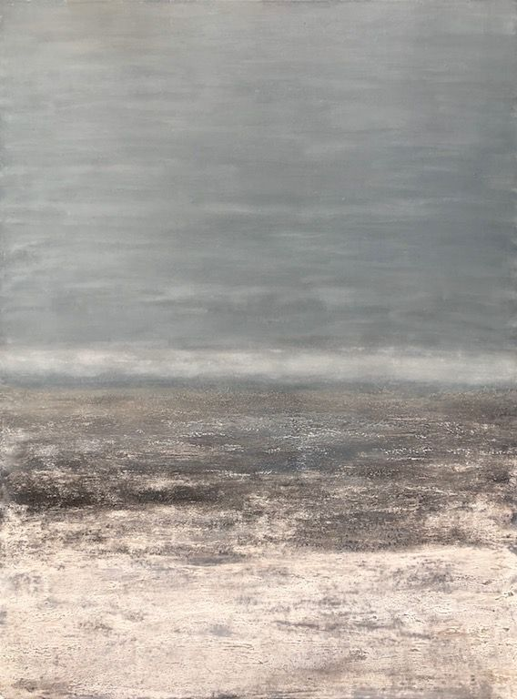 "Rocky Coast, oil on canvas, 40″ x 30,"" Copyright © 2019 chriscoxart.com"