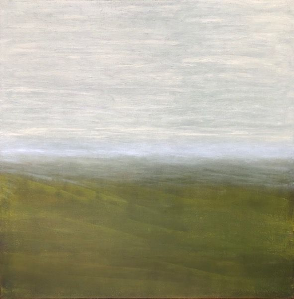 Green Light,  oil on canvas, 36″ x 36″, Copyright © 2019 chriscoxart.com