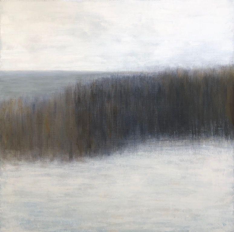 "Grey Day, oil on canvas, 36″ x 36,"" Copyright ©2019 chriscoxart.com"