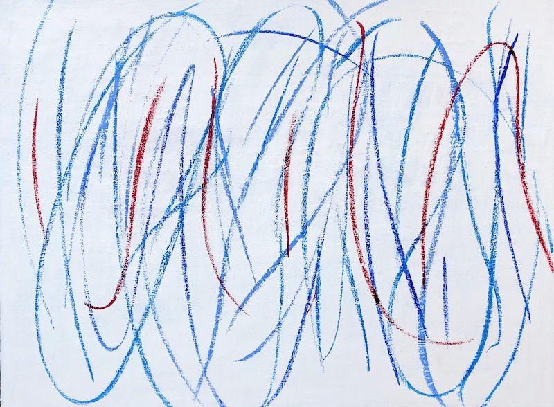 "Party Colors (11/9/20), oil on canvas, 30″ x 40,"" Copyright © 2020 chriscoxart.com"
